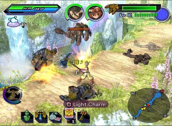 Shining Force EXA screen