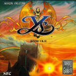 Ys Book I & II - PC Engine CD US Cover