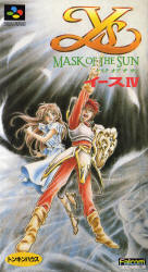 Ys IV: Mask of the Sun (SNES) Cover